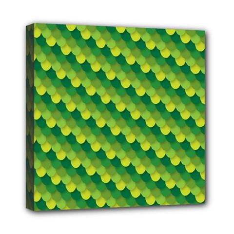 Dragon Scale Scales Pattern Mini Canvas 8  X 8