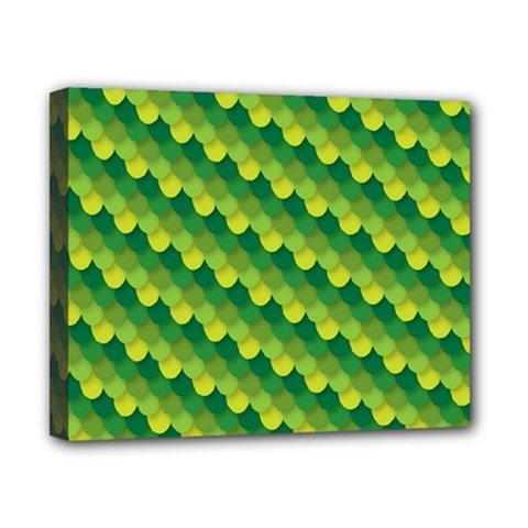 Dragon Scale Scales Pattern Canvas 10  X 8