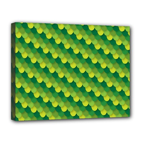 Dragon Scale Scales Pattern Canvas 14  x 11