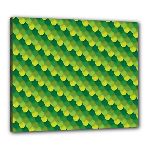 Dragon Scale Scales Pattern Canvas 24  X 20
