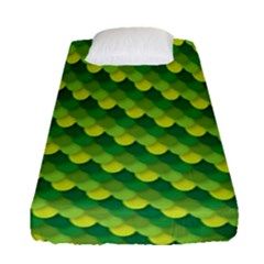 Dragon Scale Scales Pattern Fitted Sheet (single Size)