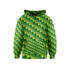 Dragon Scale Scales Pattern Kids  Zipper Hoodie