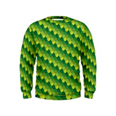 Dragon Scale Scales Pattern Kids  Sweatshirt