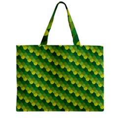 Dragon Scale Scales Pattern Zipper Mini Tote Bag