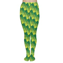 Dragon Scale Scales Pattern Women s Tights