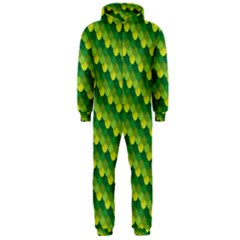 Dragon Scale Scales Pattern Hooded Jumpsuit (men)