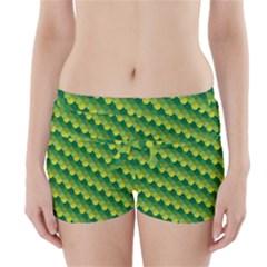 Dragon Scale Scales Pattern Boyleg Bikini Wrap Bottoms