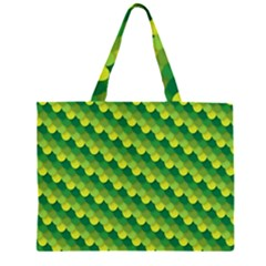 Dragon Scale Scales Pattern Zipper Large Tote Bag