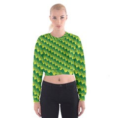 Dragon Scale Scales Pattern Women s Cropped Sweatshirt