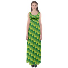 Dragon Scale Scales Pattern Empire Waist Maxi Dress