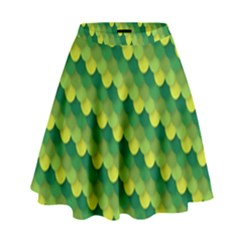 Dragon Scale Scales Pattern High Waist Skirt