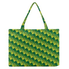 Dragon Scale Scales Pattern Medium Zipper Tote Bag