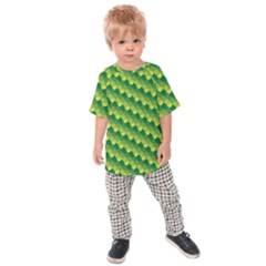 Dragon Scale Scales Pattern Kids  Raglan Tee
