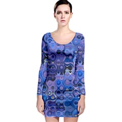 Background Texture Pattern Colorful Long Sleeve Bodycon Dress
