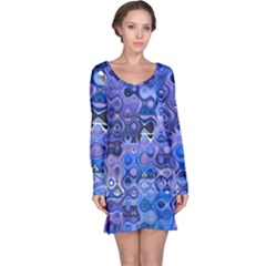 Background Texture Pattern Colorful Long Sleeve Nightdress
