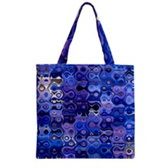 Background Texture Pattern Colorful Zipper Grocery Tote Bag