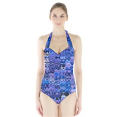 Background Texture Pattern Colorful Halter Swimsuit