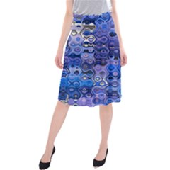 Background Texture Pattern Colorful Midi Beach Skirt
