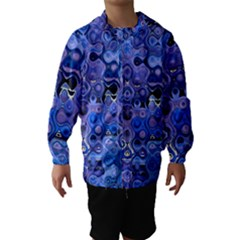 Background Texture Pattern Colorful Hooded Wind Breaker (kids)