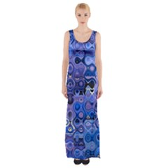Background Texture Pattern Colorful Maxi Thigh Split Dress