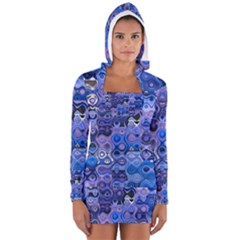 Background Texture Pattern Colorful Women s Long Sleeve Hooded T Shirt