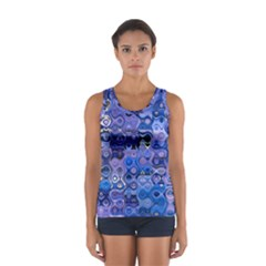 Background Texture Pattern Colorful Women s Sport Tank Top