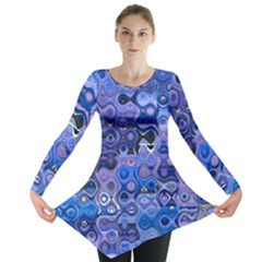 Background Texture Pattern Colorful Long Sleeve Tunic