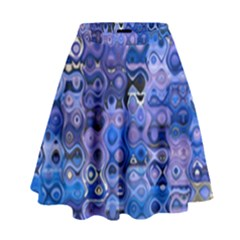 Background Texture Pattern Colorful High Waist Skirt
