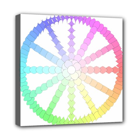 Polygon Evolution Wheel Geometry Mini Canvas 8  X 8