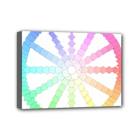 Polygon Evolution Wheel Geometry Mini Canvas 7  X 5