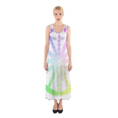 Polygon Evolution Wheel Geometry Sleeveless Maxi Dress