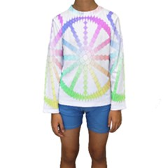 Polygon Evolution Wheel Geometry Kids  Long Sleeve Swimwear