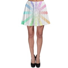 Polygon Evolution Wheel Geometry Skater Skirt