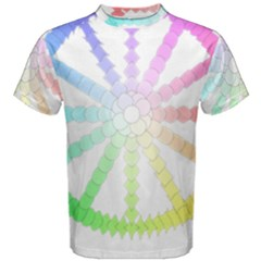Polygon Evolution Wheel Geometry Men s Cotton Tee