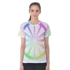 Polygon Evolution Wheel Geometry Women s Cotton Tee