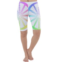 Polygon Evolution Wheel Geometry Cropped Leggings