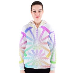 Polygon Evolution Wheel Geometry Women s Zipper Hoodie