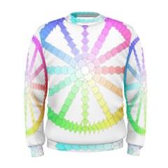 Polygon Evolution Wheel Geometry Men s Sweatshirt