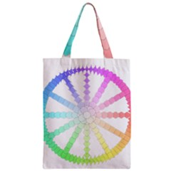 Polygon Evolution Wheel Geometry Zipper Classic Tote Bag
