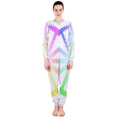 Polygon Evolution Wheel Geometry Onepiece Jumpsuit (ladies)