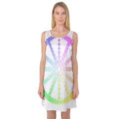 Polygon Evolution Wheel Geometry Sleeveless Satin Nightdress
