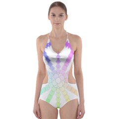 Polygon Evolution Wheel Geometry Cut Out One Piece Swimsuit