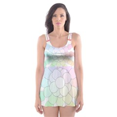 Polygon Evolution Wheel Geometry Skater Dress Swimsuit