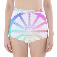 Polygon Evolution Wheel Geometry High-Waisted Bikini Bottoms