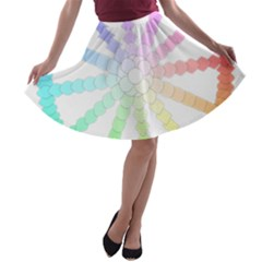 Polygon Evolution Wheel Geometry A-line Skater Skirt