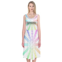 Polygon Evolution Wheel Geometry Midi Sleeveless Dress
