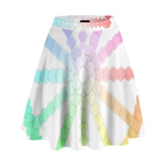Polygon Evolution Wheel Geometry High Waist Skirt