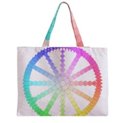 Polygon Evolution Wheel Geometry Medium Tote Bag