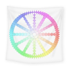 Polygon Evolution Wheel Geometry Square Tapestry (large)