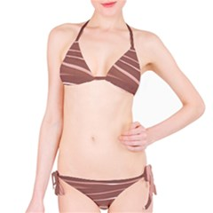 Lines Swinging Texture Background Bikini Set